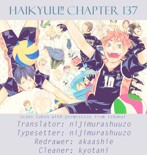 Haikyu!! 137 Page 1
