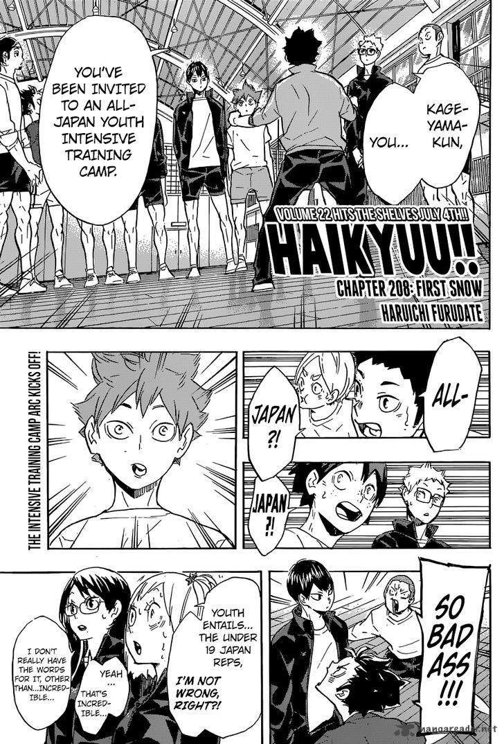 Haikyu!! 208 Page 1