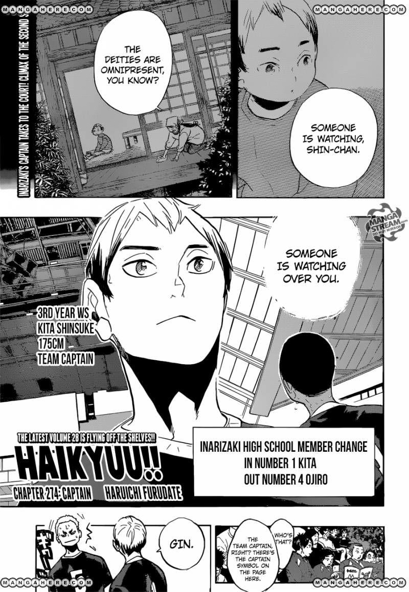 Haikyu!! 274 Page 1