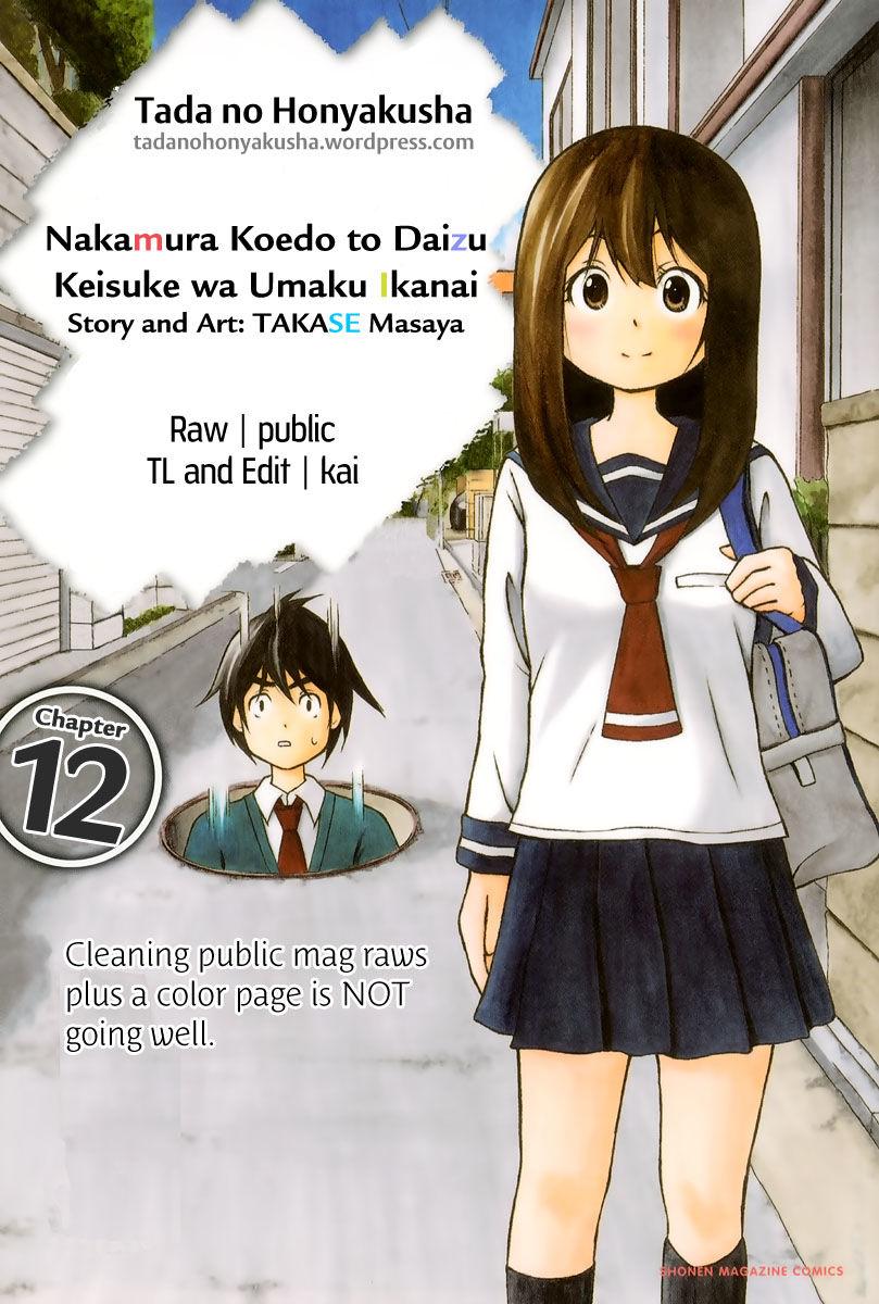 Nakamura Koedo to Daizu Eryou wa Umaku Ikanai 12 Page 1