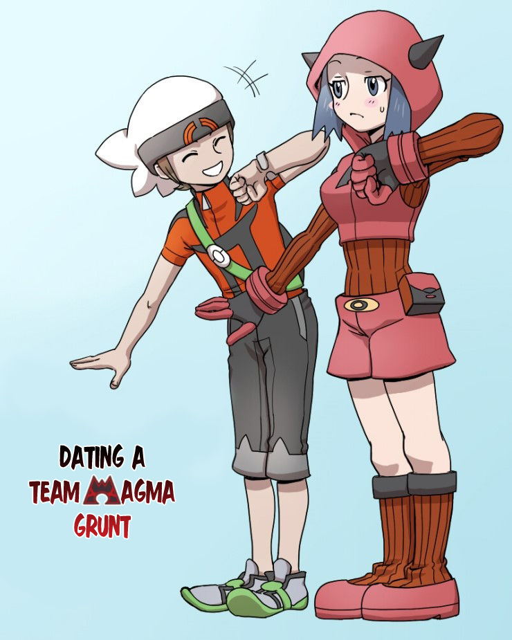 Pokemon - Dating a Team Magma Grunt (Doujinshi) 2 Page 1