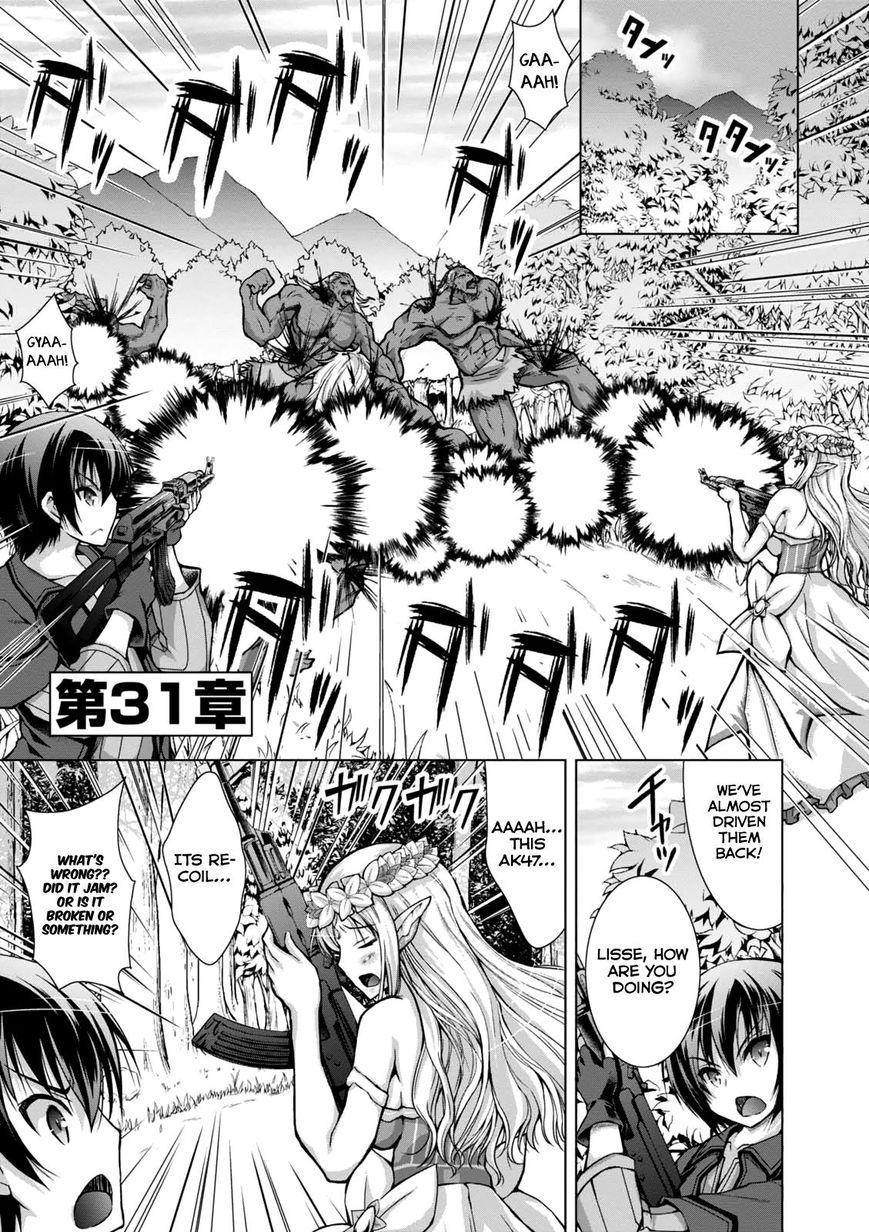 Gunota ga Mahou Sekai ni Tensei Shitara, Gendai Heiki de Guntai Harem o Tsukucchaimashita!? 31 Page 2