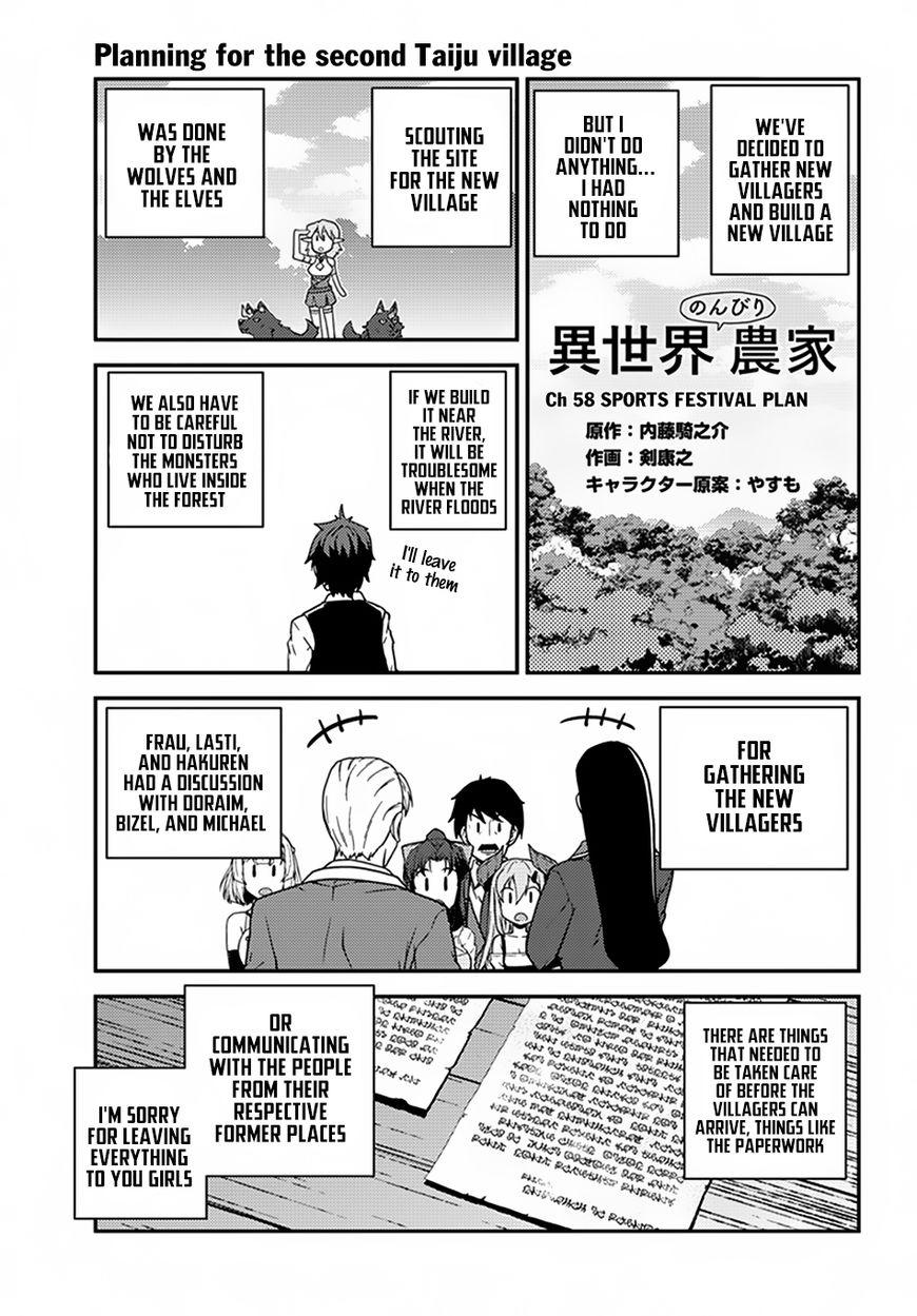 Isekai Nonbiri Nouka 58 Page 1