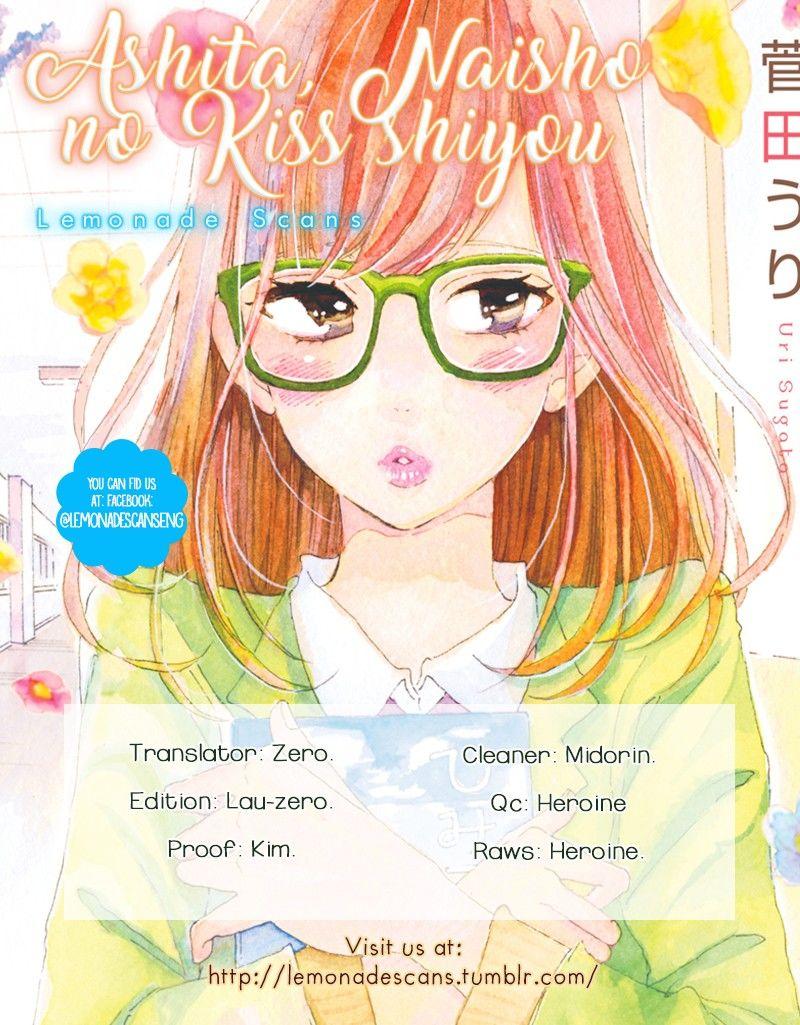 Ashita, Naisho no Kiss shiyou 2 Page 1