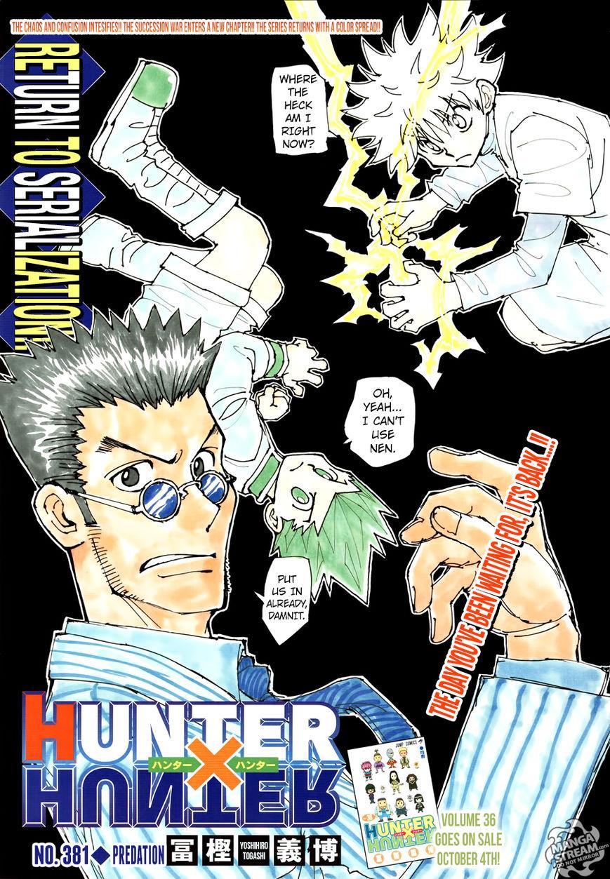 Hunter X Hunter 381 Page 1
