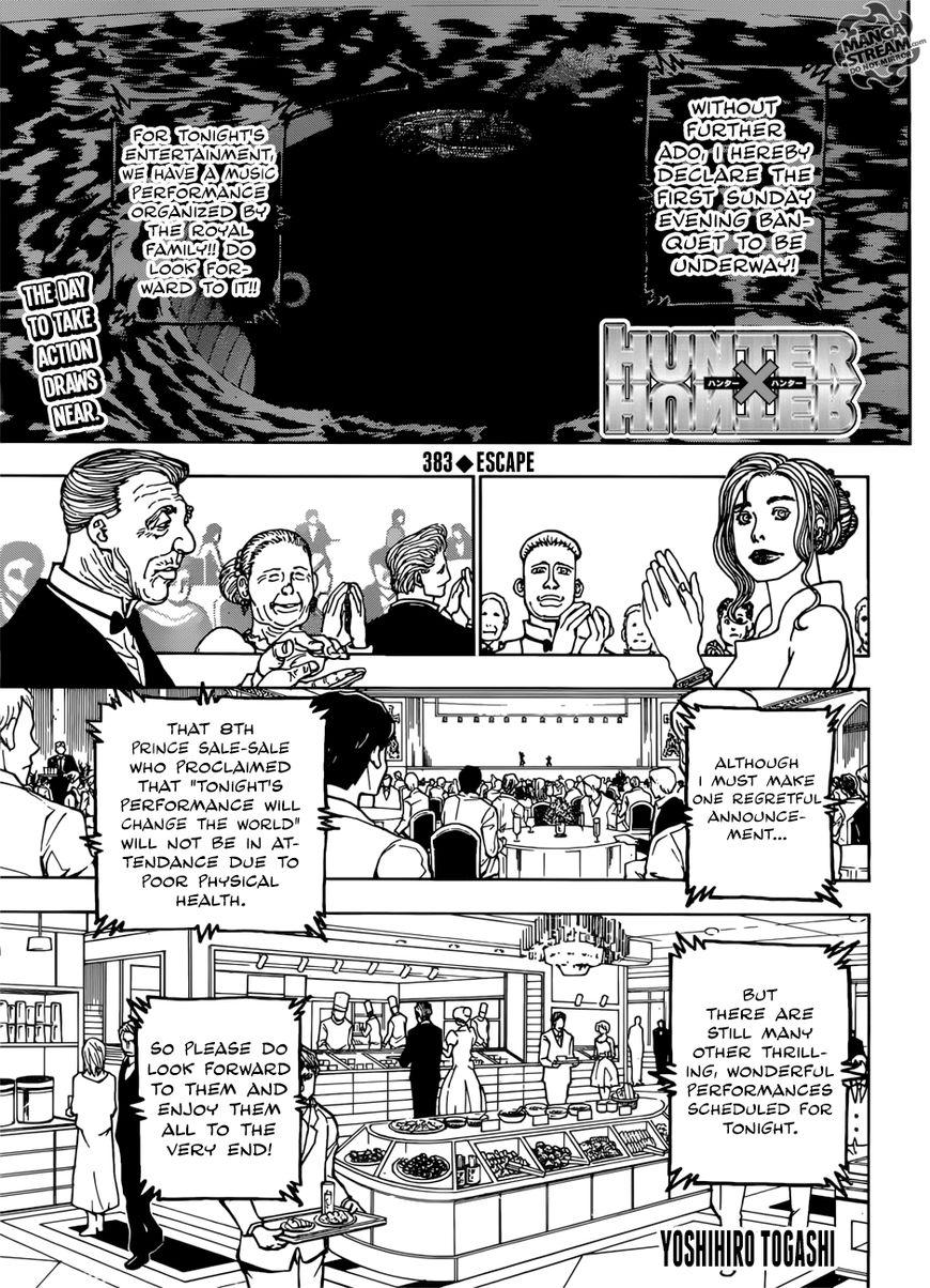 Hunter X Hunter 383 Page 1