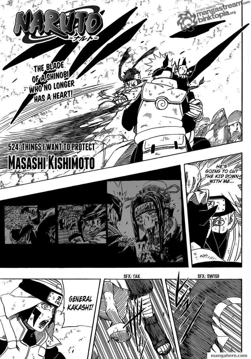 Naruto 524 Page 1