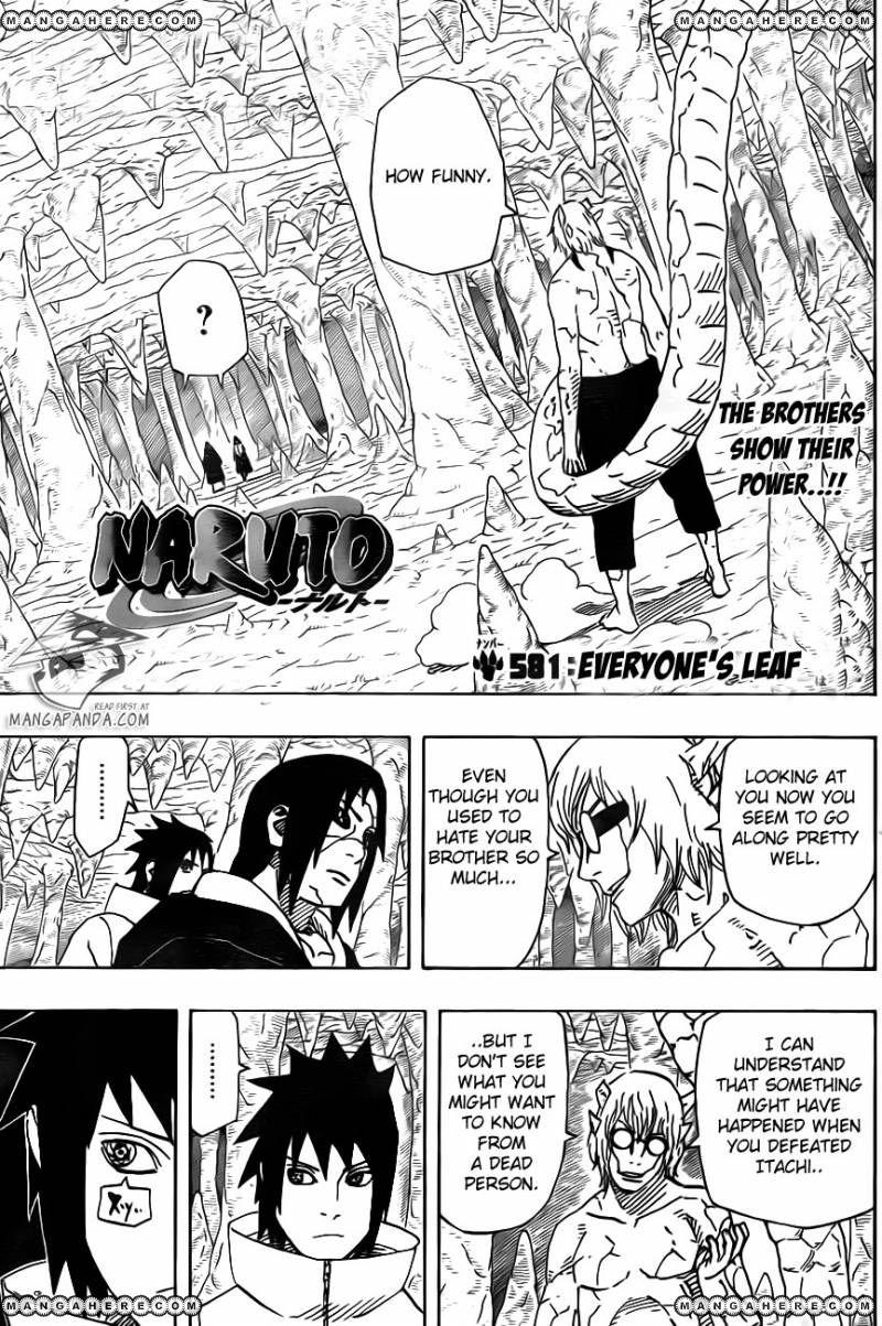Naruto 581 Page 1