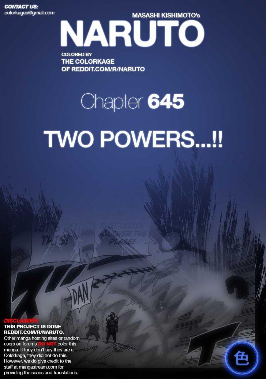 Naruto 645.1 Page 1
