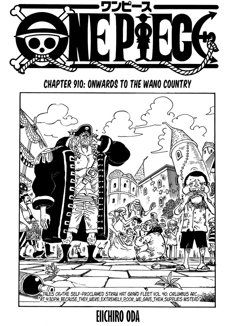 One Piece 910 Page 1