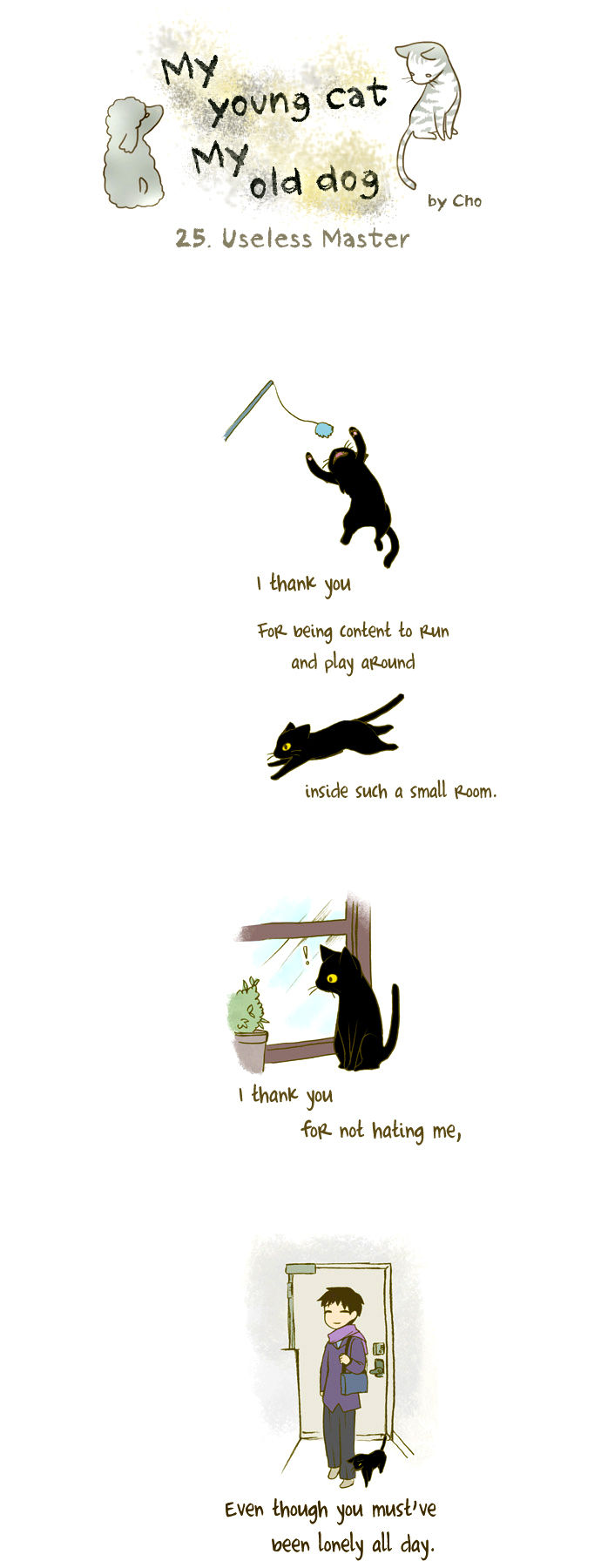 My Young Cat and My Old Dog 25 Page 1