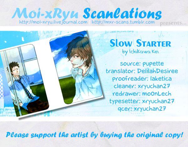 Slow Starter (ICHIKAWA Kei) 1 Page 1