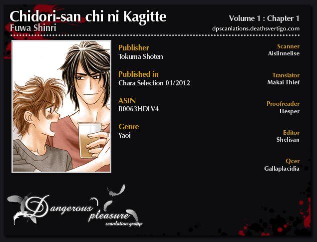 Chidori-san Ke ni Kagitte 1 Page 1