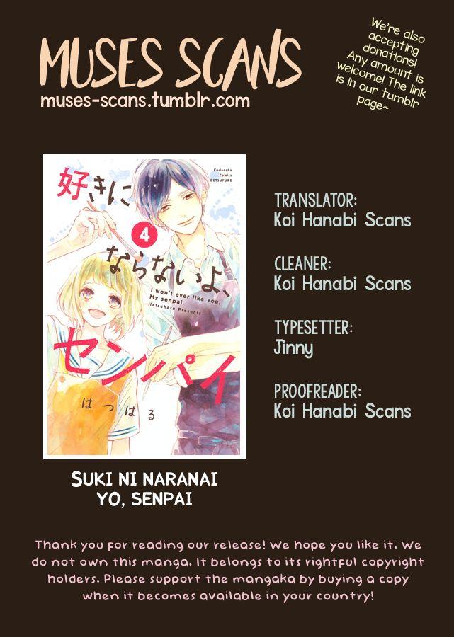 Suki ni Naranai yo, Senpai 8 Page 1