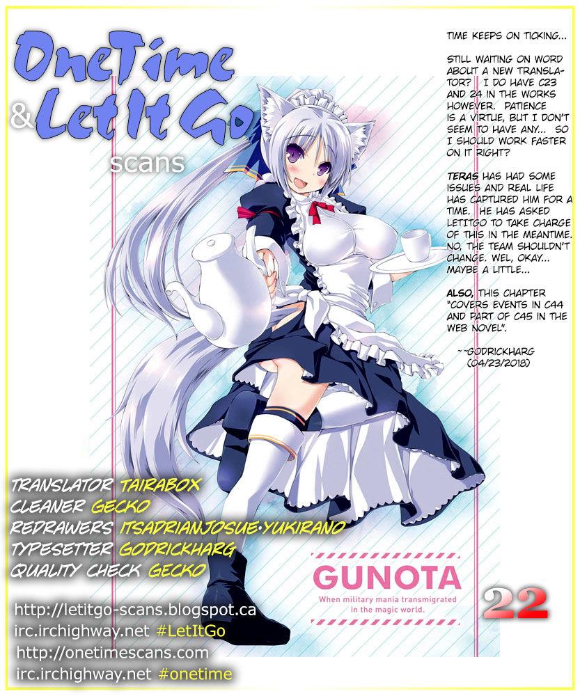 Gunota ga Mahou Sekai ni Tensei Shitara, Gendai Heiki de Guntai Harem o Tsukucchaimashita!? 22 Page 1