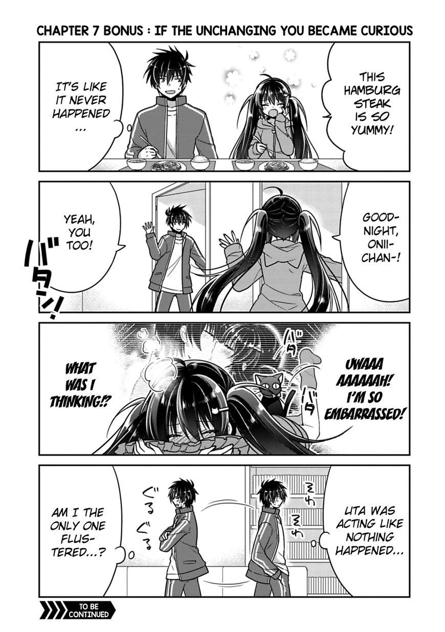 Siscon Ani to Brocon Imouto ga Shoujiki ni Nattara 7.5 Page 1