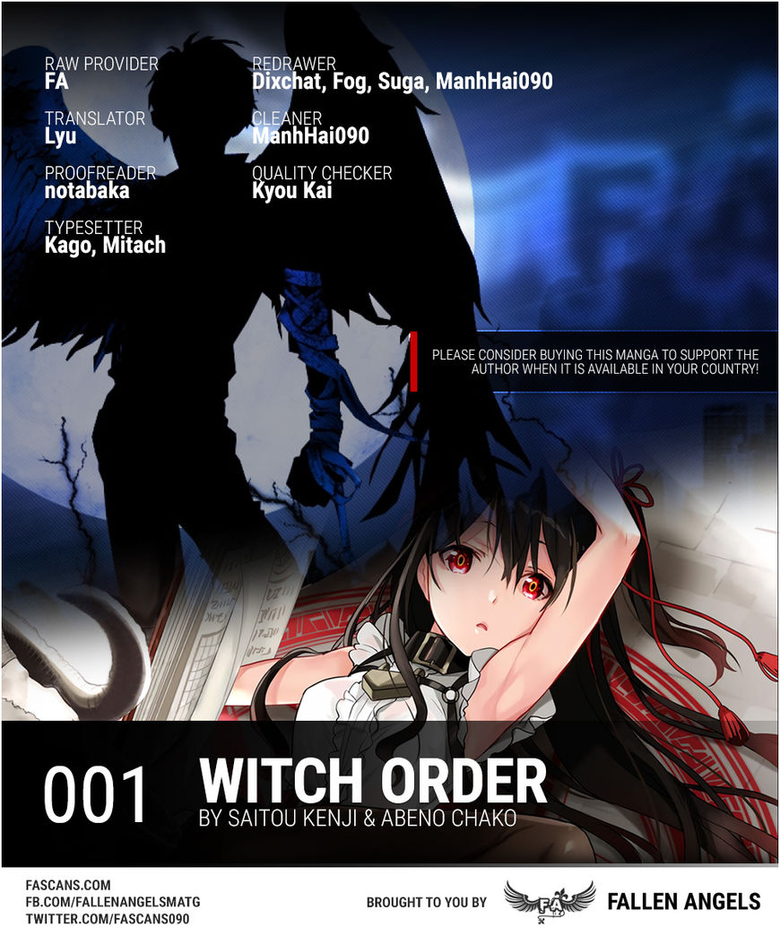 Witch Order 1 Page 1