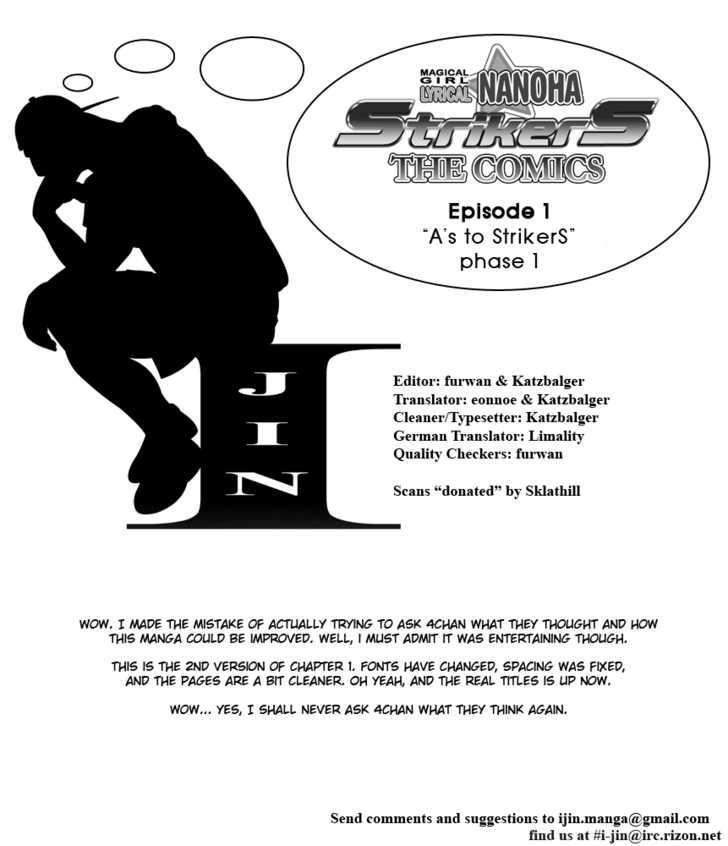 Mahou Shoujo Lyrical Nanoha StrikerS the Comics 1 Page 1