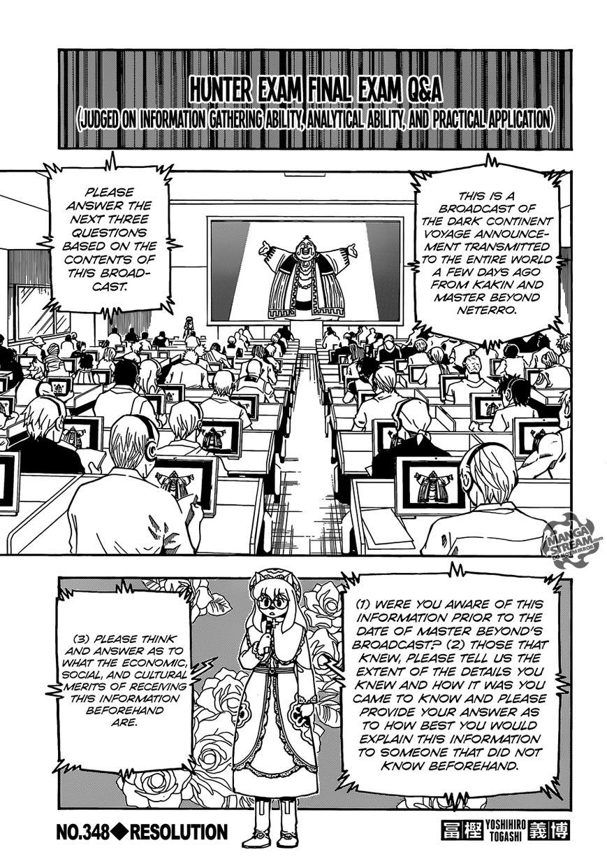 Hunter X Hunter 348 Page 1