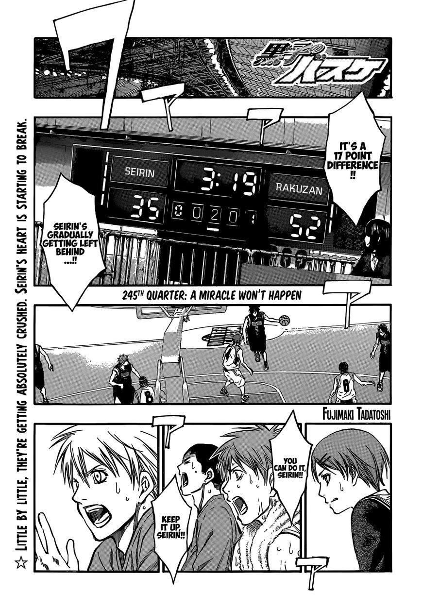 Kuroko no Basket 245 Page 1