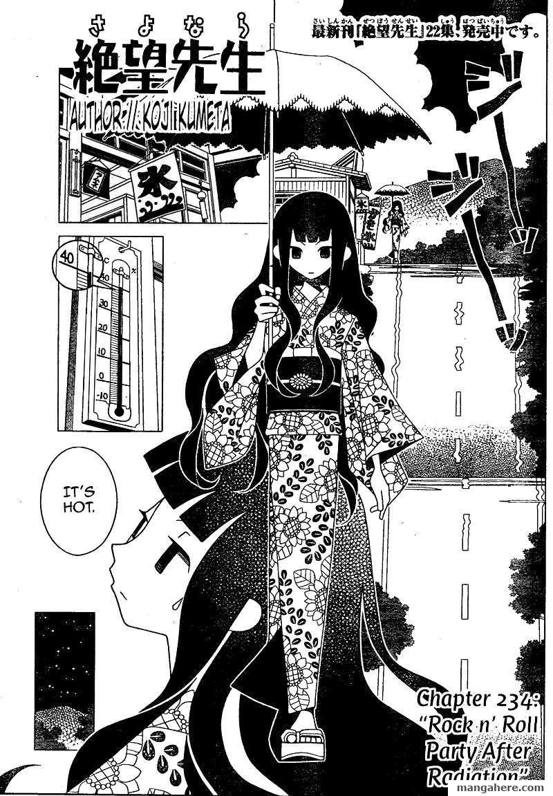 Sayonara Zetsubou Sensei 234 Page 1